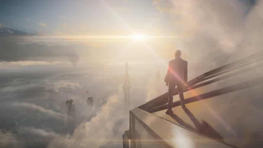 Hitman 3: Agent 47 surveys the scene from the world's tallest building in Dubai