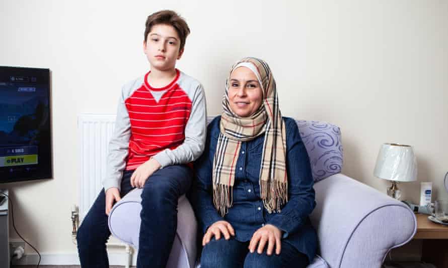 Fatima al-Mohammad and son Abdullah