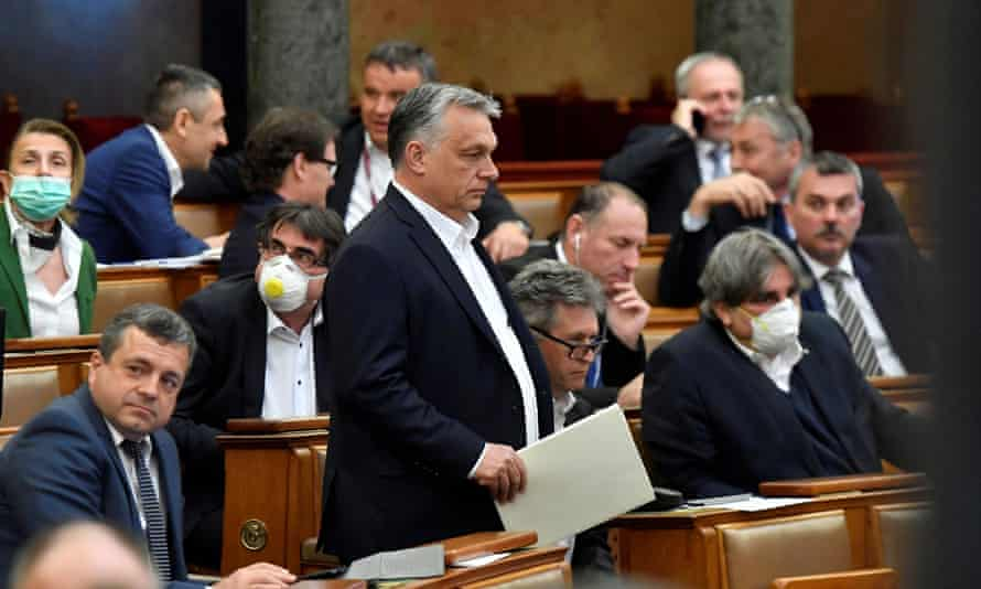 Hungary's prime minister, Viktor Orbán, in parliament
