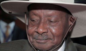 Uganda's president, Yoweri Museveni, arrives for the Assembly of the Heads of State and the Government of the African Union in Ethiopia in February.