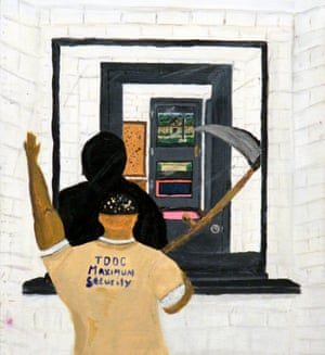 Artwork by GDongalay Berry, an inmate on death row in Nashville, Tennessee.