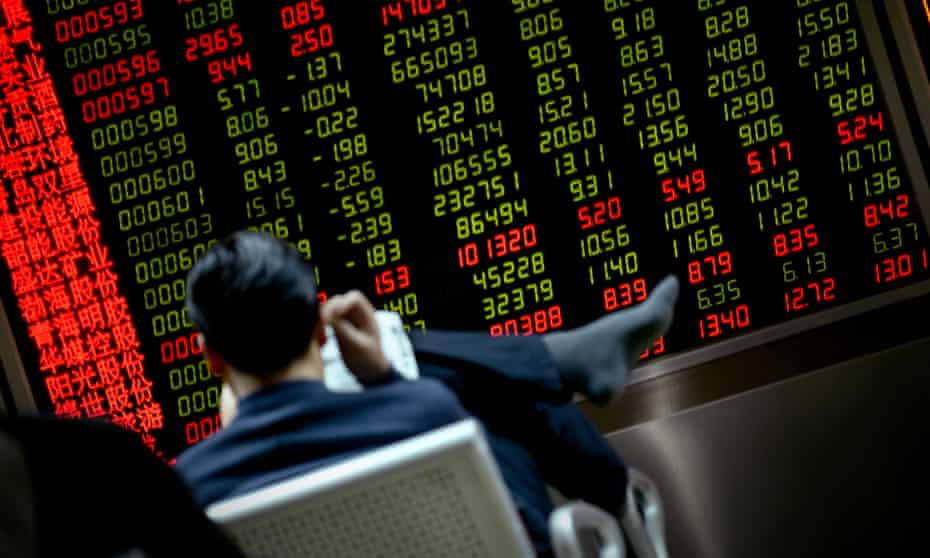 An investor at a Beijing stock market company last week.