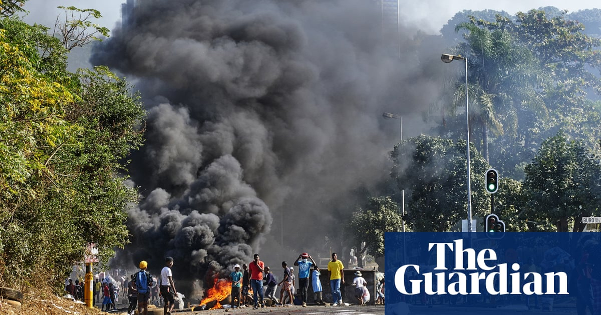 South Africa military deployed to tackle violence over Zuma jailing – video