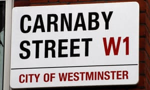 Carnaby Street sign, City of Westminster