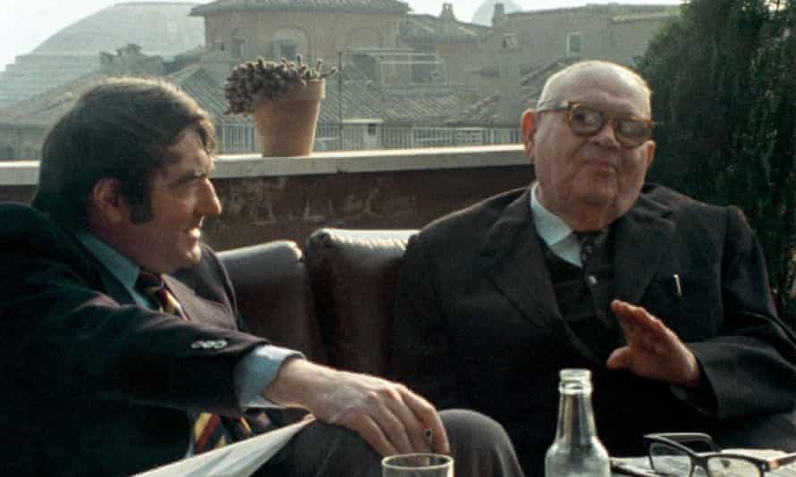 Lanzmann, left, interviewing Benjamin Murmelstein in The Last of the Unjust.