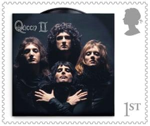 Queen II album cover stamp