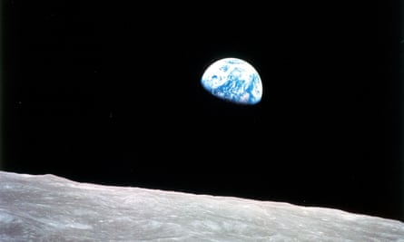 Earthrise … captured by Apollo 8 in 1968.