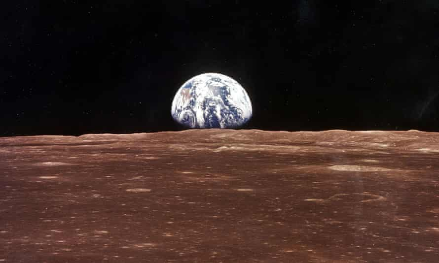 The Earth photographed from the surface of the moon