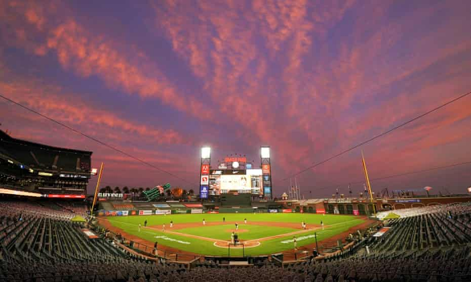 Oracle Park in San Francisco in September, without fans.
