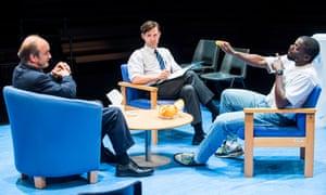 David Haig, Luke Norris and Daniel Kaluuya in Blue/Orange at the Young Vic.