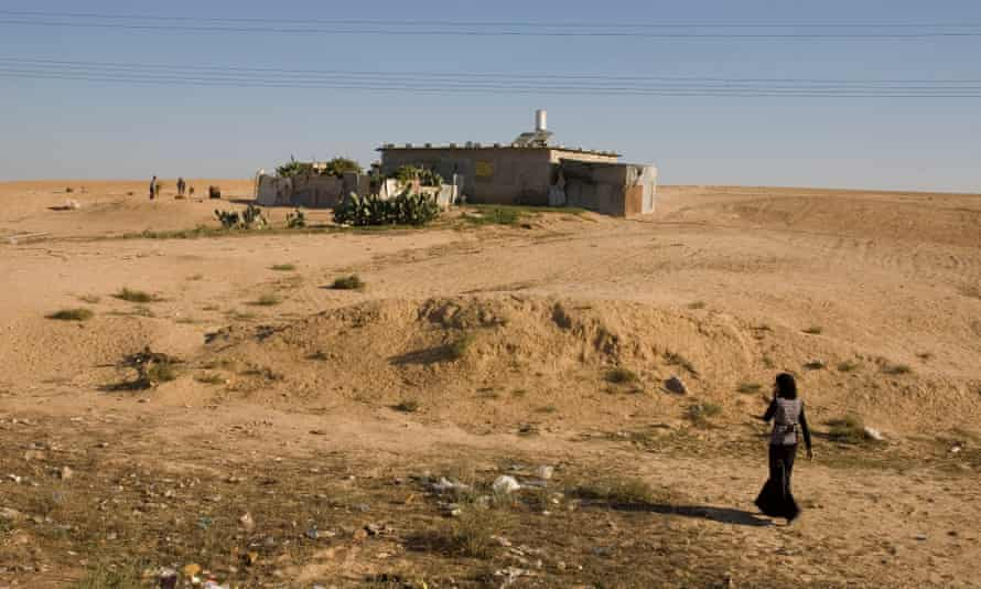 A Bedouin village in the Negev, southern Israel.