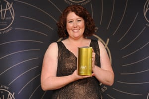 Jane Harper, who won the Australian Book Industry Awards' gold award for book of the year for her first novel The Dry