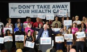 Bernie Sanders at a rally on Saturday in Pittsburgh, Pennsylvania.