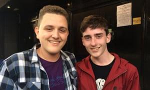 Charlie Karisa (L) and Tom Ebbrell, outside the Ritz.