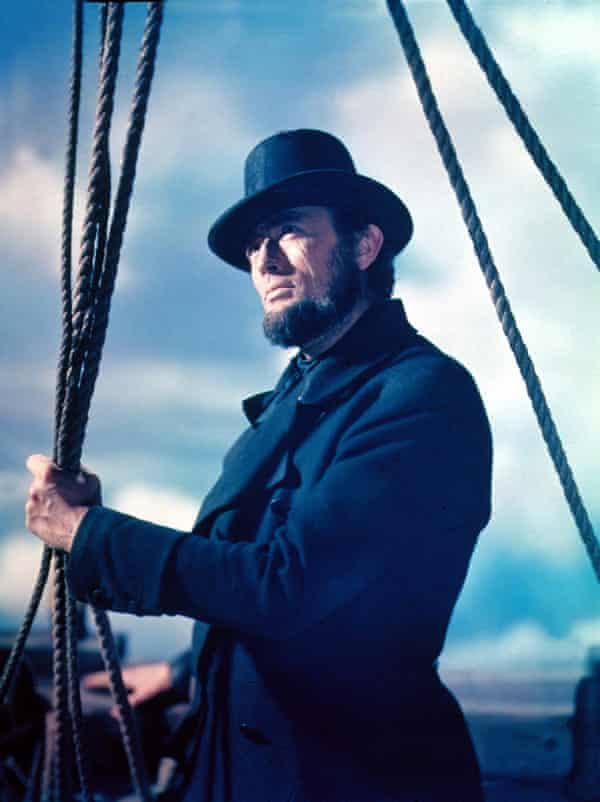 Gregory Peck as Captain Ahab in the film of Moby-Dick.