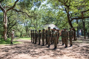 Scouts being trained to patrol the Kasanka national park