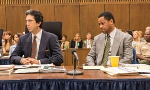 David Schwimmer as Robert Kardashian, Cuba Gooding Jr as OJ Simpson aka The Juice