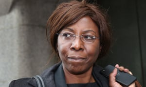 Constance Briscoe leaving the Old Bailey in May 2014. She was jailed later that month.