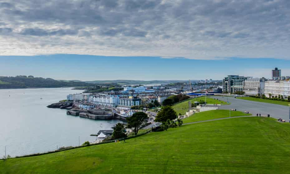 View of Plymouth from the top of Smeaton's Tower.
