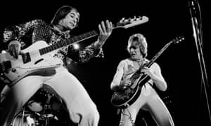 Peter Overend Watts, left, and Mick Ronson performing with Mott the Hoople.