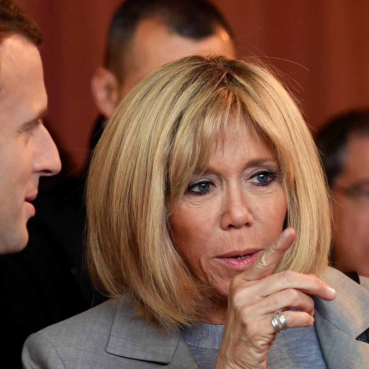 Brigitte Macron Ever Present Beside France S Presidential Hopeful Emmanuel Macron The Guardian