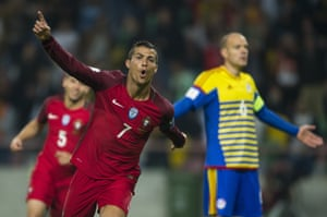 Two goals for Ronaldo in that first half.