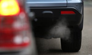 Air Pollution Levels In Putney Exceed Yearly Quota Just Days Into 2013PUTNEY, ENGLAND - JANUARY 10: Exhaust fumes from a car in Putney High Street on January 10, 2013 in Putney, England. Local media are reporting local environmental campaigners claims that levels of traffic pollutants, mostly nitrogen dioxide, have breached upper safe limits in the busy street in south west London. (Photo by Peter Macdiarmid/Getty Images)