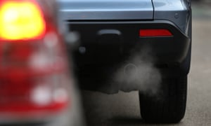 Exhaust fumes from a car in Putney High Street in Putney, England. (Photo by Peter Macdiarmid/Getty Images)