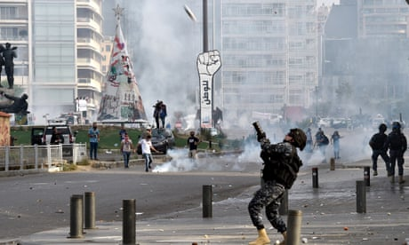 Protesters flood on to the streets of Beirut demanding basic rights