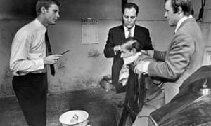 Litvinoff based this scene from Performance on his own beatings by the Krays. James Fox is on the left, with real-life hardman John Bindon far right.