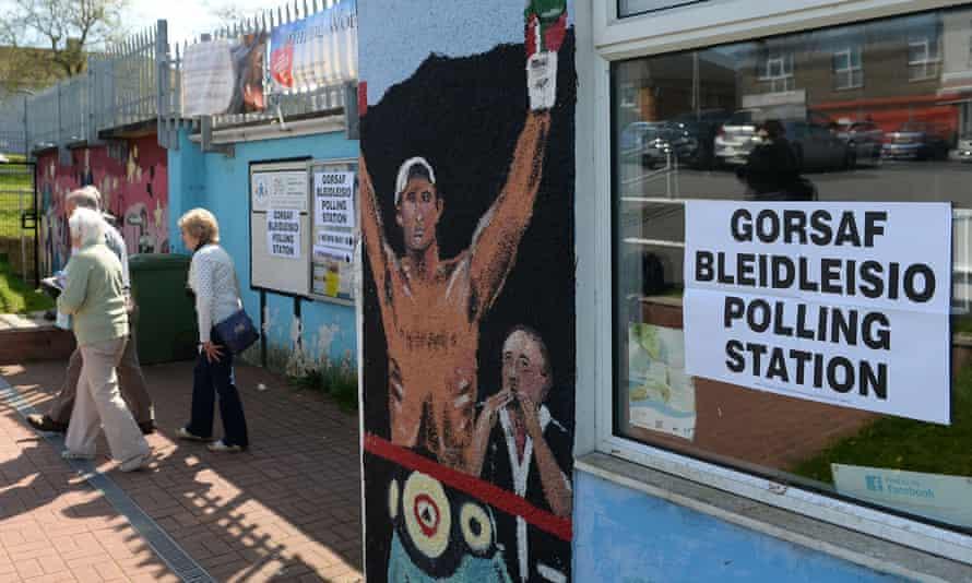 Polling station in Bridgend