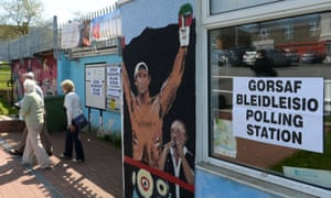 A polling station in Bridgend, Wales