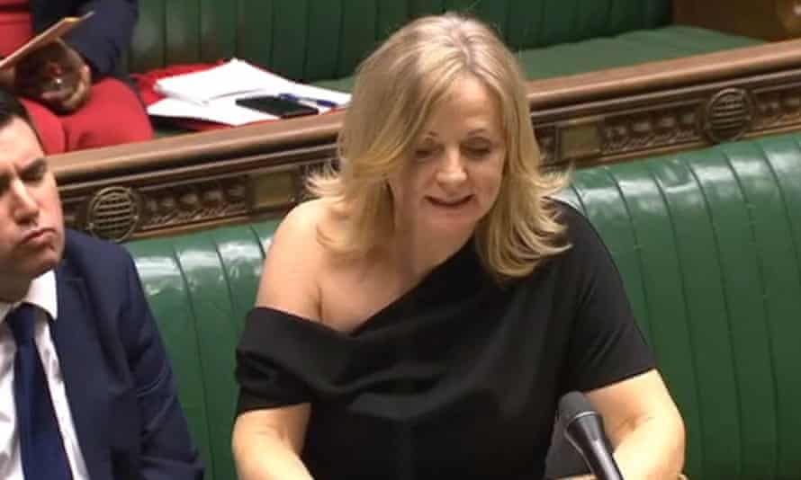 Tracy Brabin raises a point of order in the House of Commons on Monday