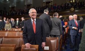 US Senate majority leader Mitch McConnell