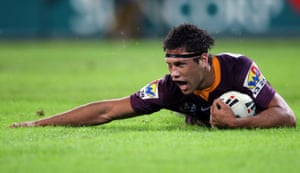 Moon during his time with the Brisbane Broncos.