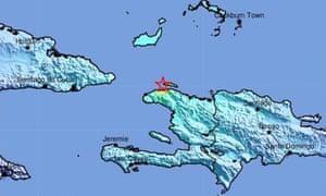 Map of Haiti and surrounding area