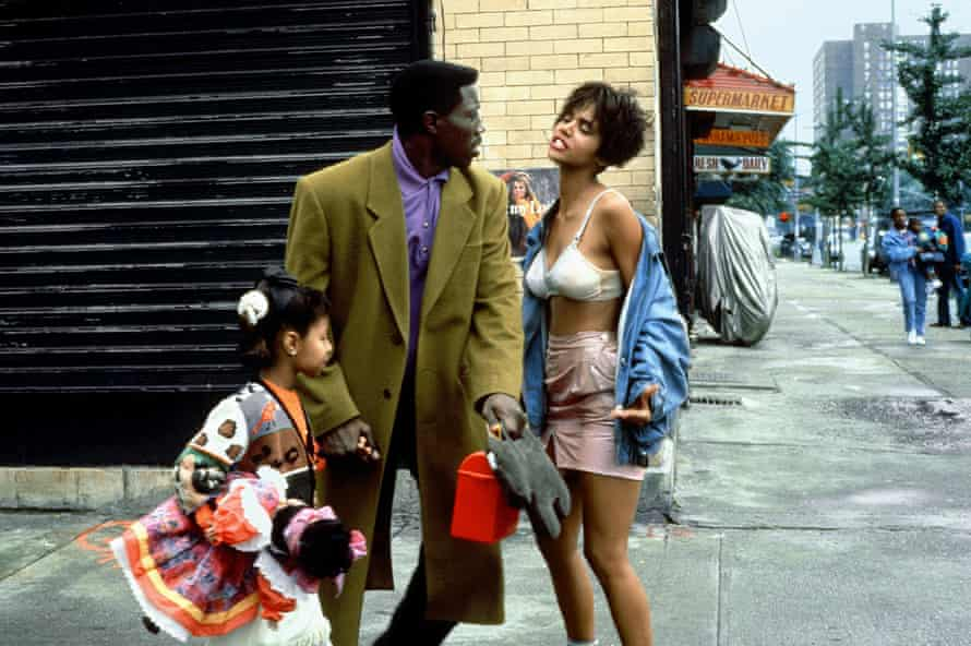 With Halle Berry in Jungle Fever.
