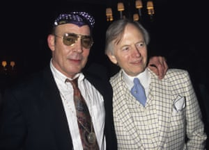 Pictured in 1996 with the writer Hunter S Thompson at the 25th anniversary party of Fear and Loathing in Las Vegas