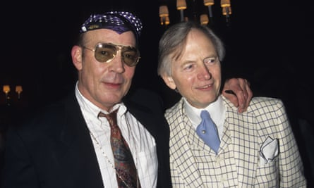 Hunter S Thompson and Tom Wolfe in 1996.