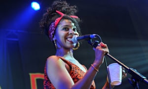 Hollie Cook performing at the 2012 Womad festival.