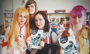 Young people at Oldham Library's Comic Con event, May 2018