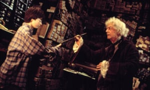 John Hurt as the wand seller Mr Ollivander in 2001's Harry Potter and the Philosopher's Stone
