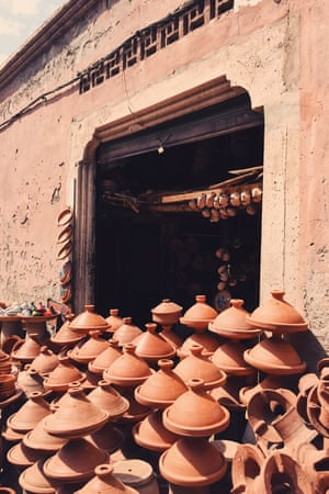 Simple earthenware pots in Morocco