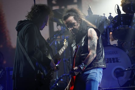 The Cure on the Pyramid Stage.