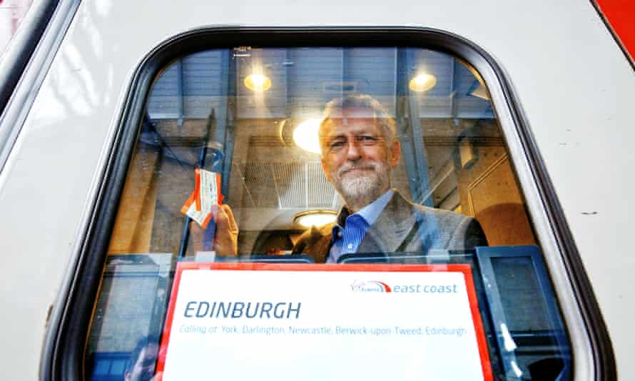 Jeremy Corbyn outlined plans for a publicly owned railway at King's Cross, London in August.