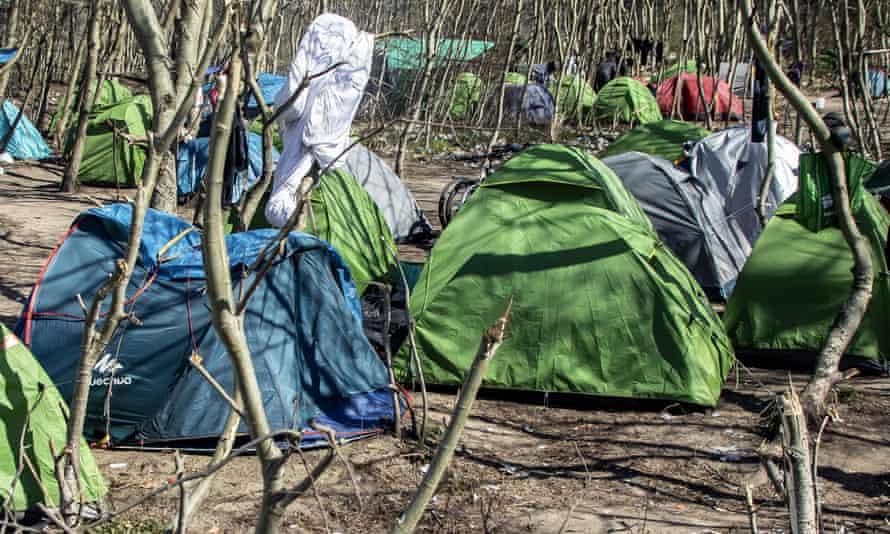 Campsite in Calais, France,