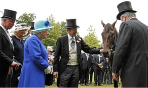 John Warren, centre, pictured with Dartmouth and his owner, the Queen, after the horse's victory at Royal Ascot.
