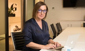 Guardian Australia Editor, Lenore Taylor. Photograph by Carly Earl. Guardian Staff byline. October. 2018. Australia.