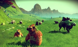 One of No Man's Sky's numerous randomly generated planets.