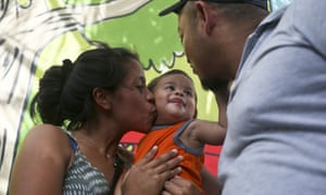 Adalicia, Johan and Rolando are reunited in Honduras.